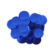 Metallic Blue Foil Confetti | 10mm Metallic Round | 50g Bag